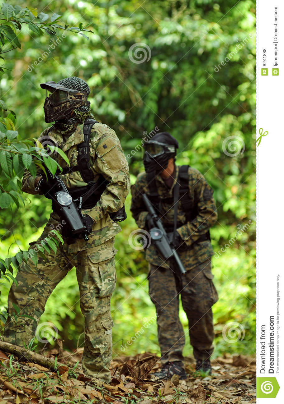 jungle paintball stock photo  image of speed  safety  protection