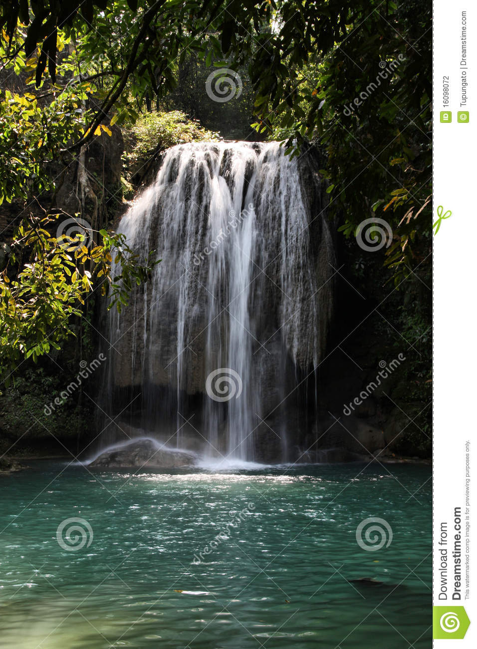 Beautiful waterfall in thailand s erawan waterfalls national park - Jungle In Thailand Stock Photography Image 16098072