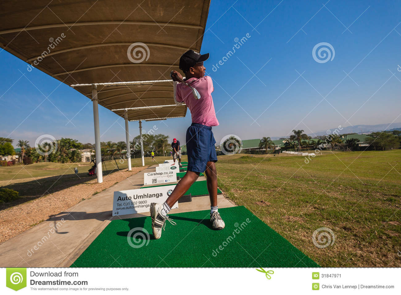 Junior Player Golf Practice Range