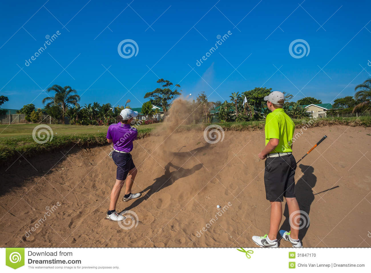Junior Players Sand Shots Golf-Praxis