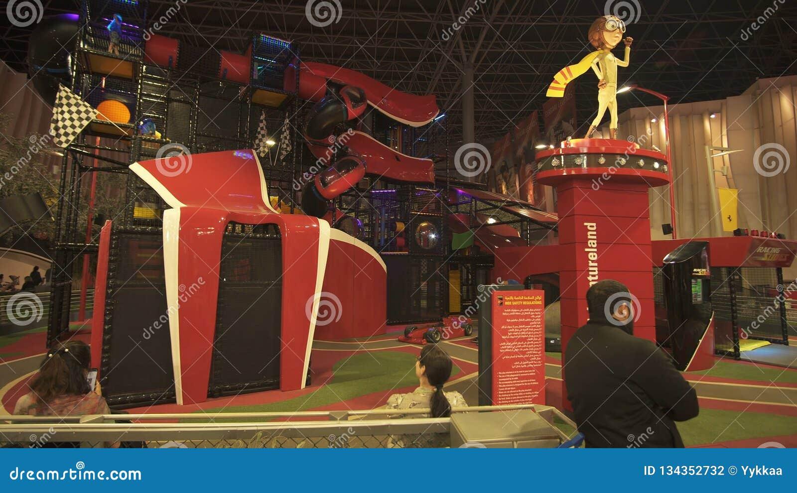 Junior Training Camp Play Area In Ferrari World Abu Dhabi Editorial Photography Image Of Fashion Power 134352732
