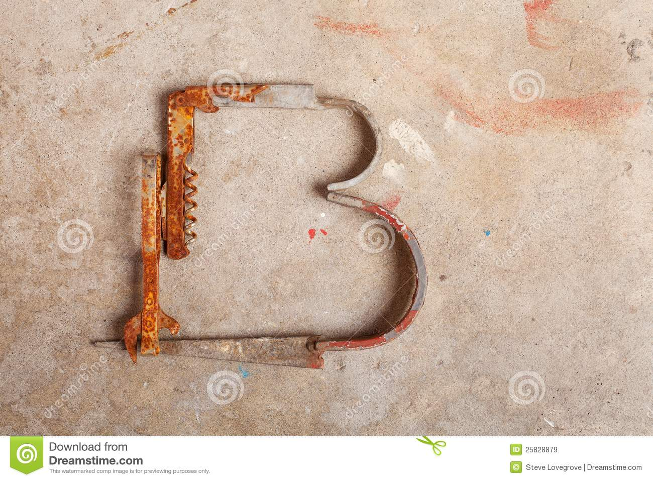 Letter Made Out Of Objects.Junk Alphabet Stock Image Image Of Graphemes Text Recycle