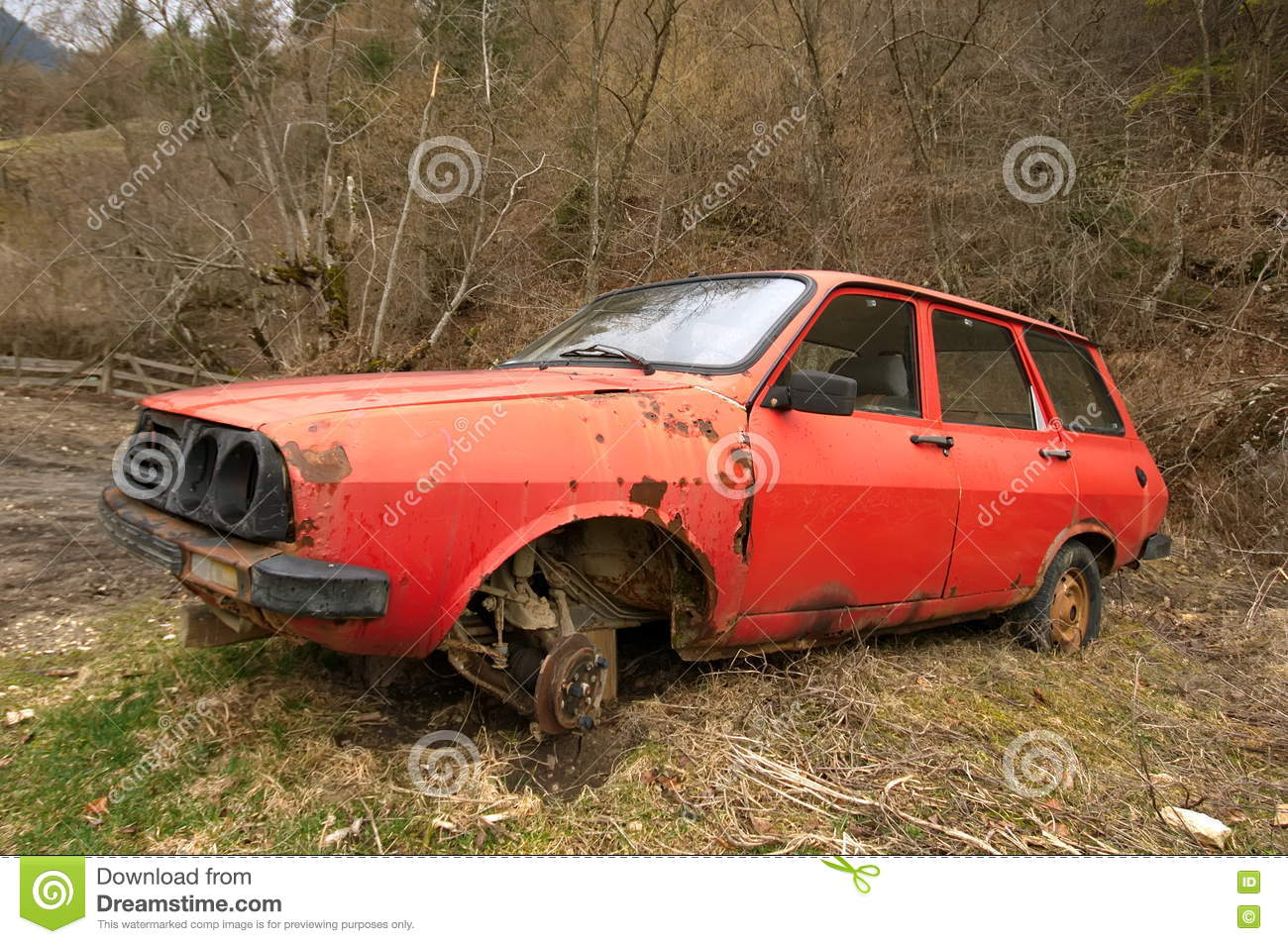 Old red junk car stock image. Image of sport, hobby, garbage - 73411135