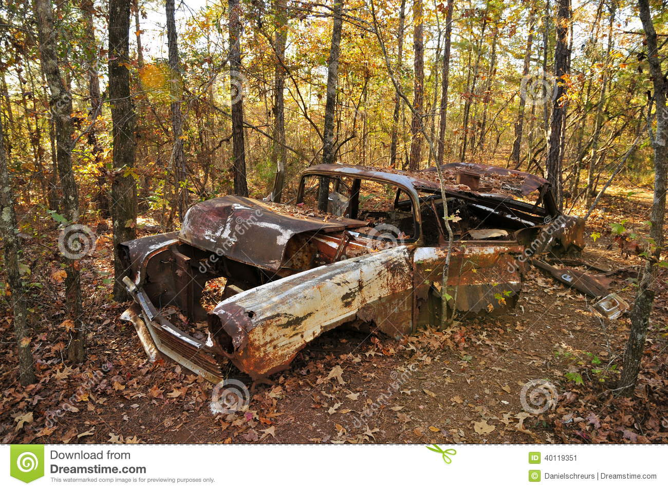 Junk Car In Providence Canyon Stock Photo Image 40119351