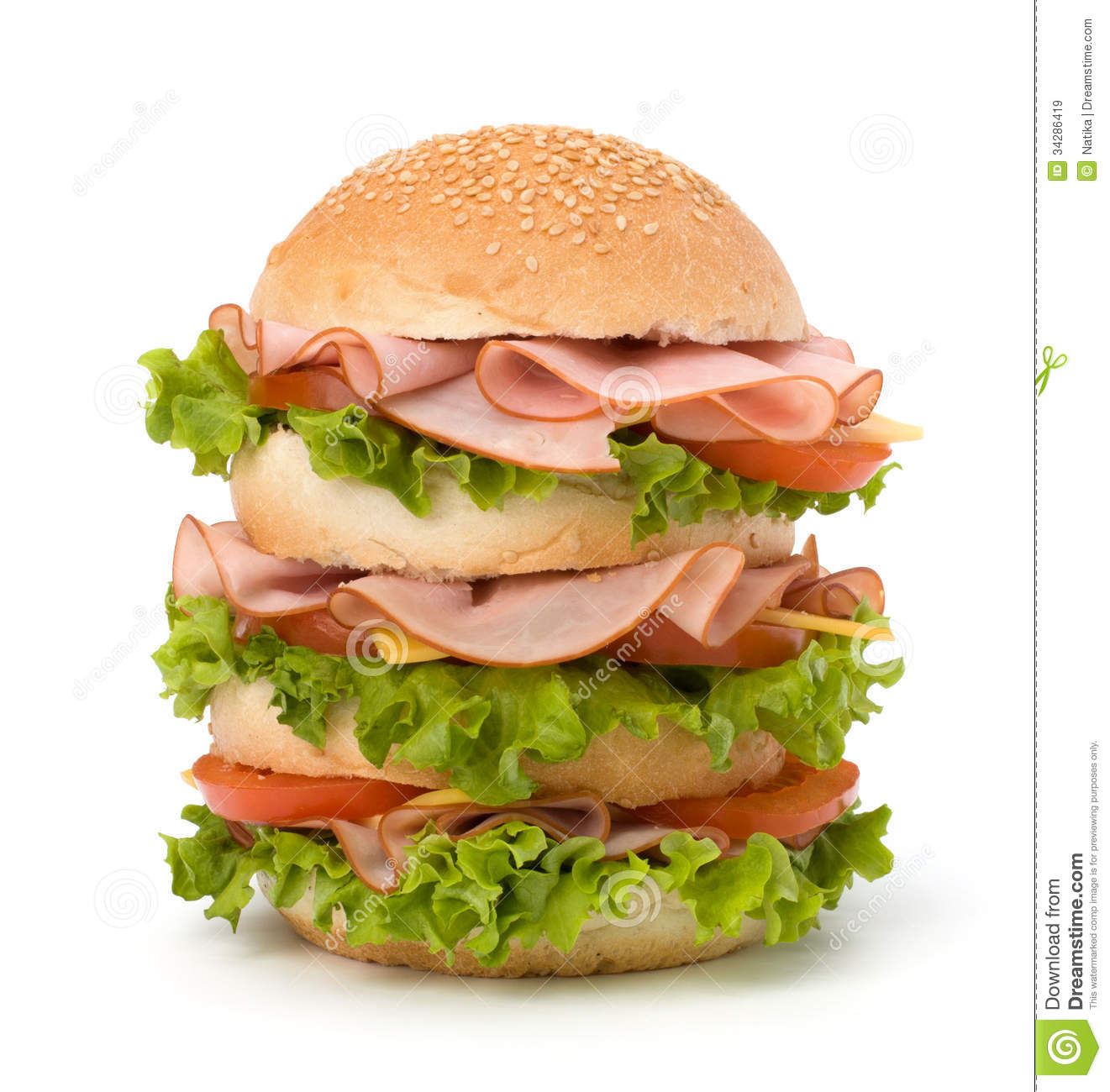 Junk Food Hamburger Royalty Free Stock Images - Image: 34286419