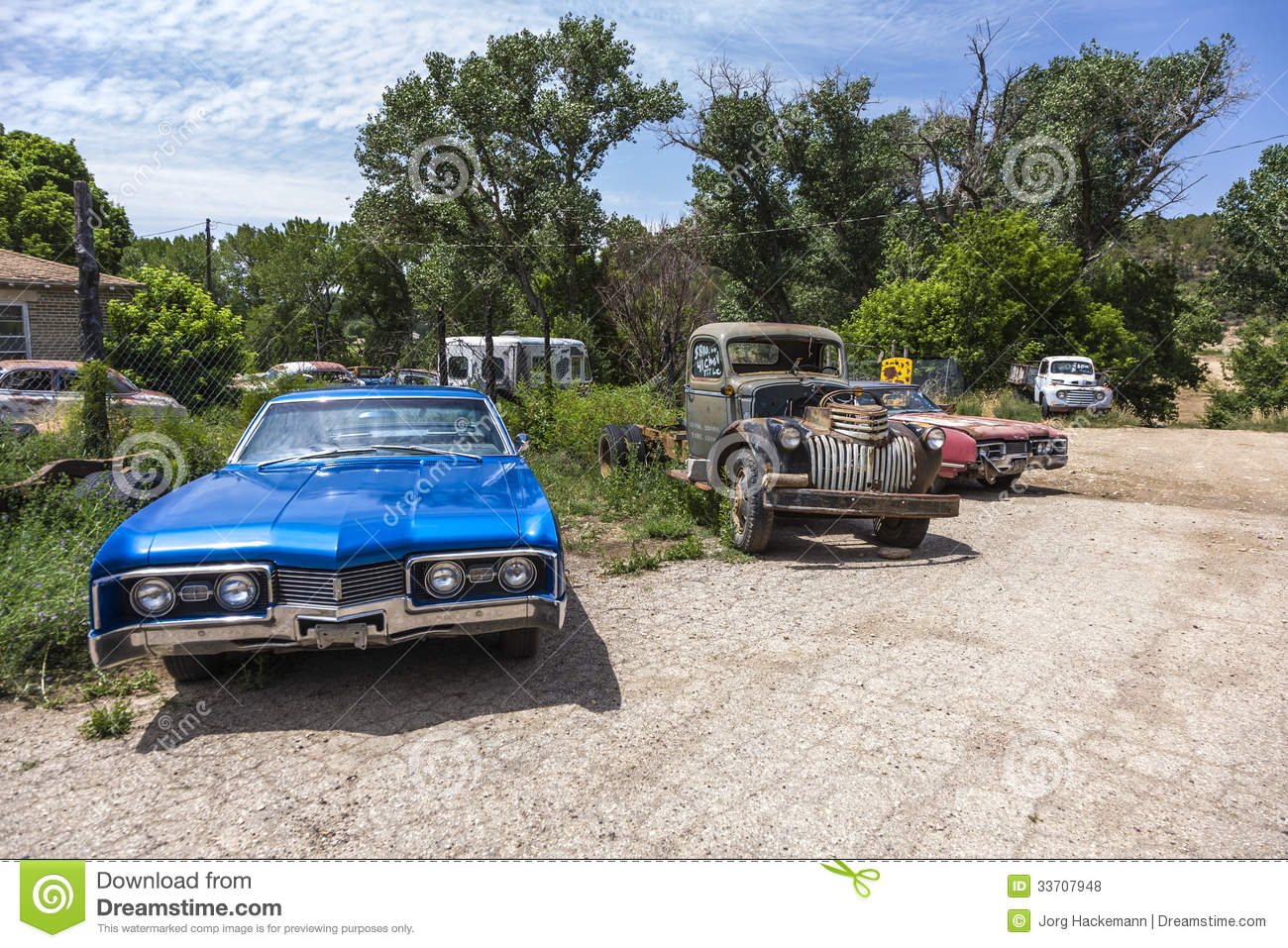 Junk Yard With Old Beautiful Editorial Stock Photo Image
