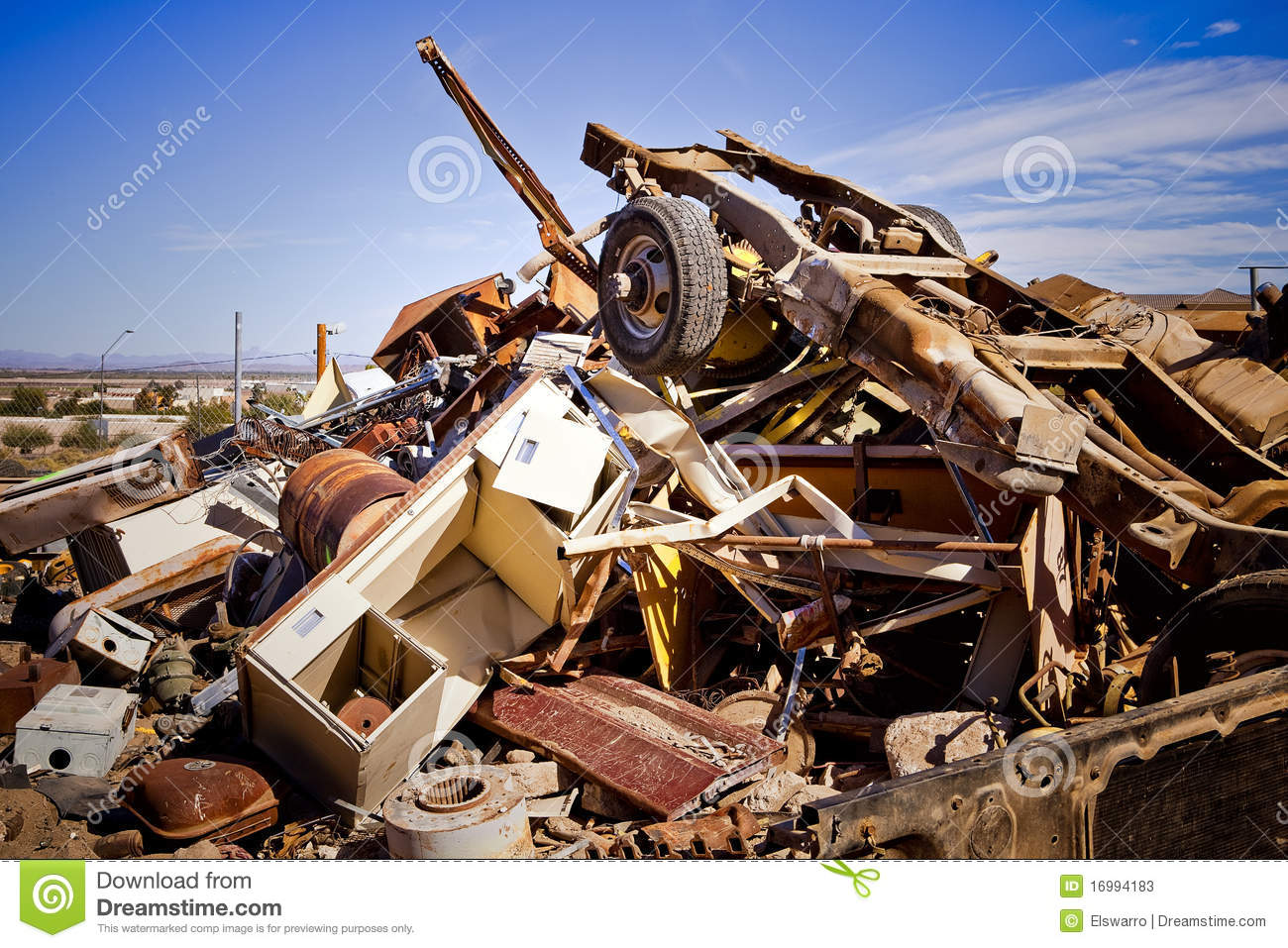 Junk Yard Pile stock image. Image of center, junk, corroding - 16994183