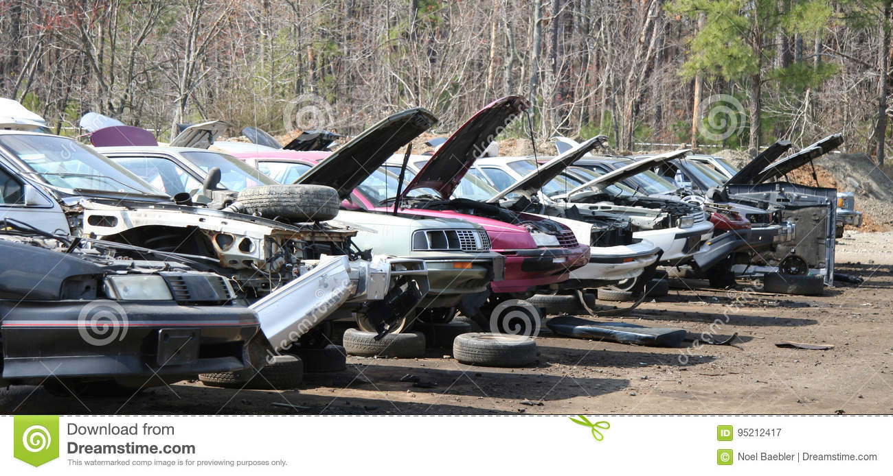 Junker Cars stock image. Image of industry, abandoned - 95212417