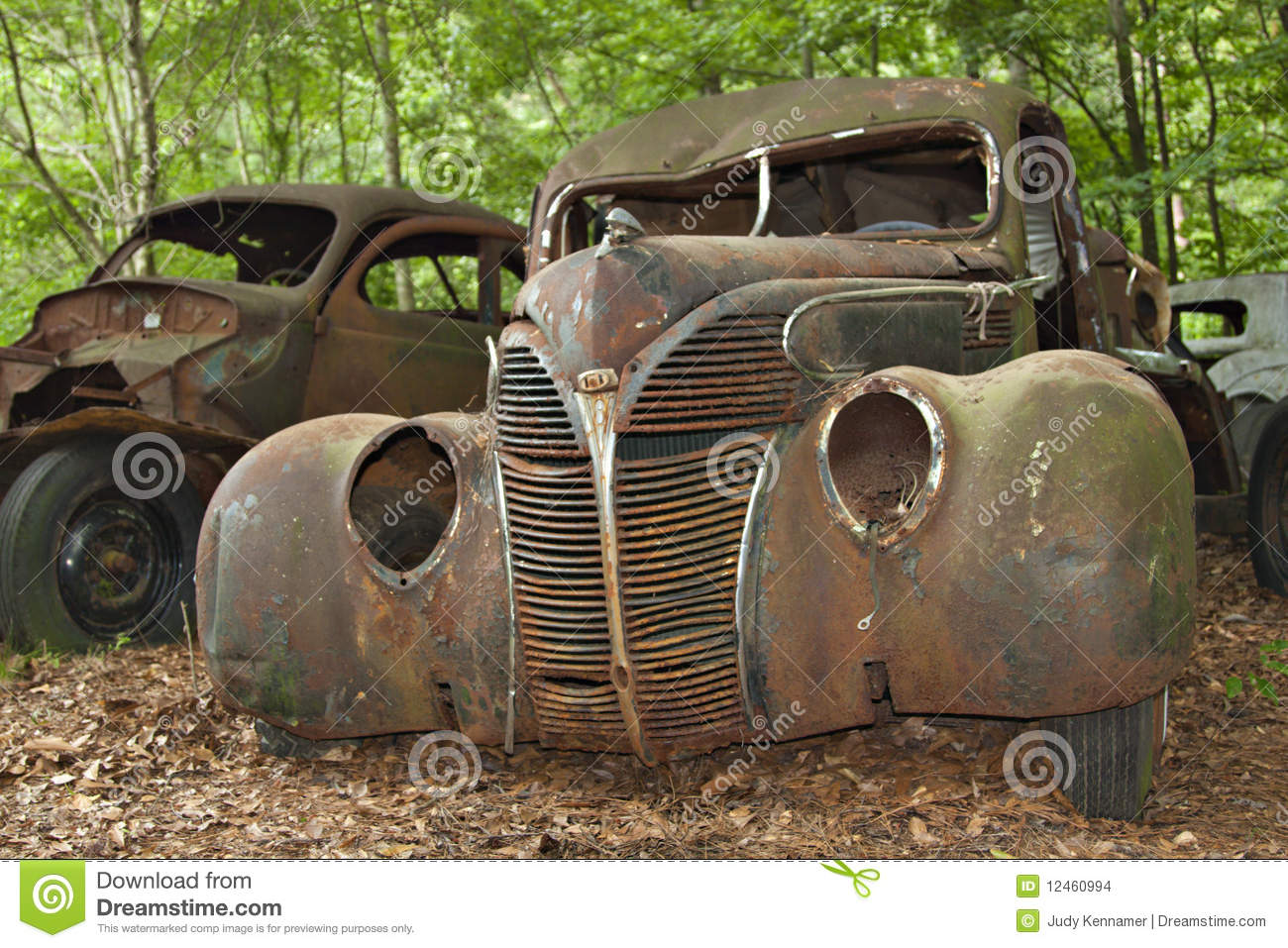 Junkyard car stock photo. Image of horizontal, glass - 12460994