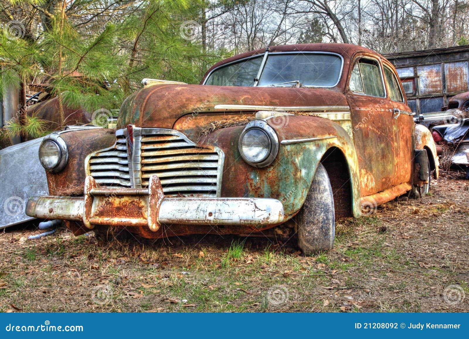Junkyard Vehicle stock photo. Image of american, abandoned - 21208092