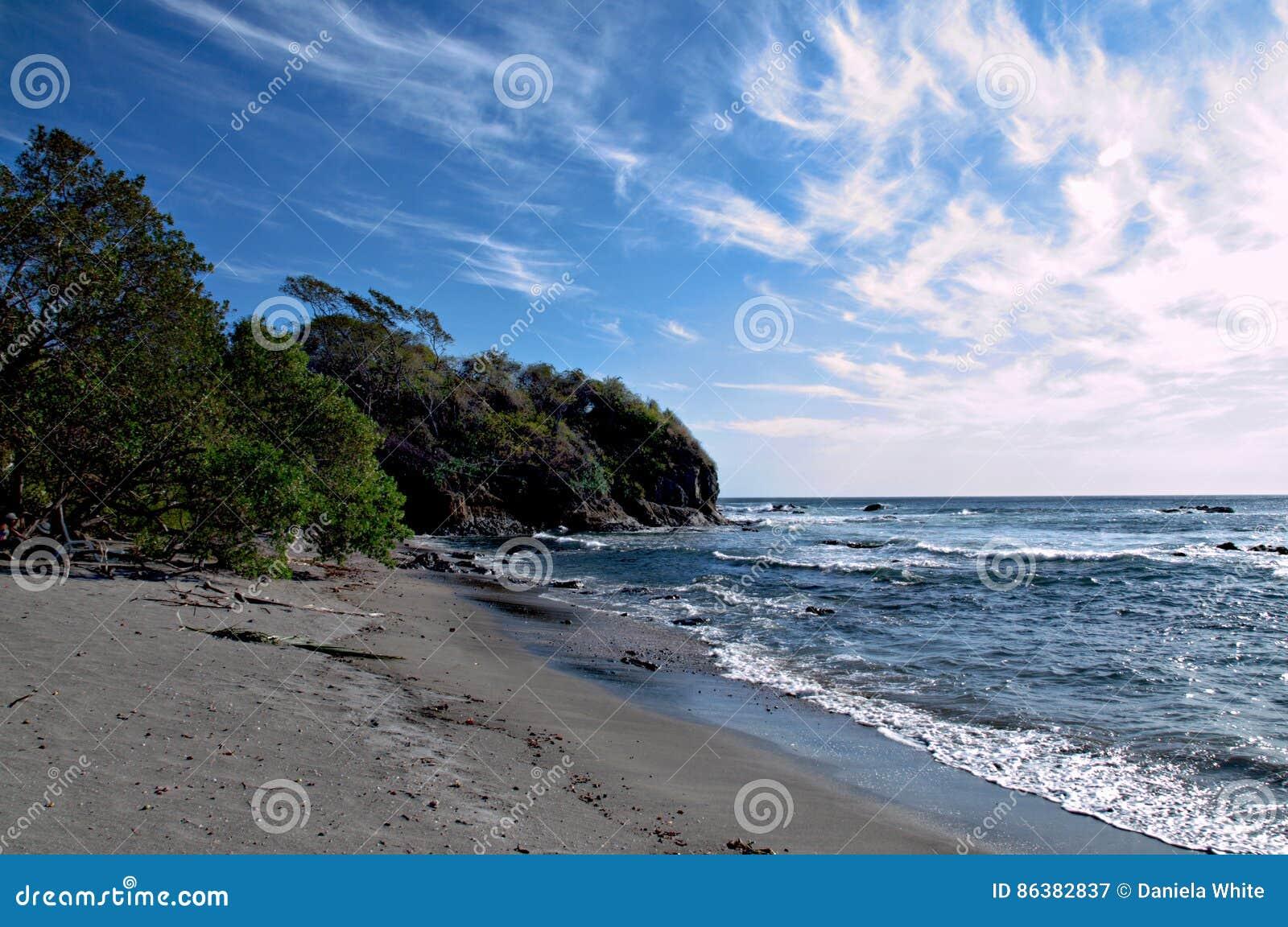 Junquillal plaża w Nicoya półwysepie, Guanacaste, Costa Rica
