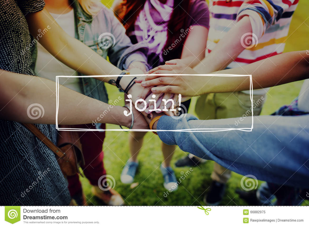 Junte-se a Team Networking Connection Communication Concept