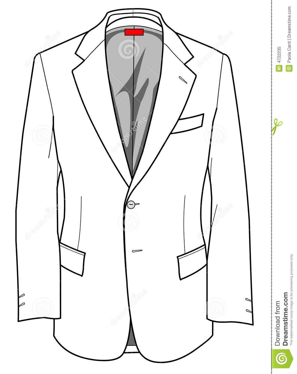 Suit clipart black and white