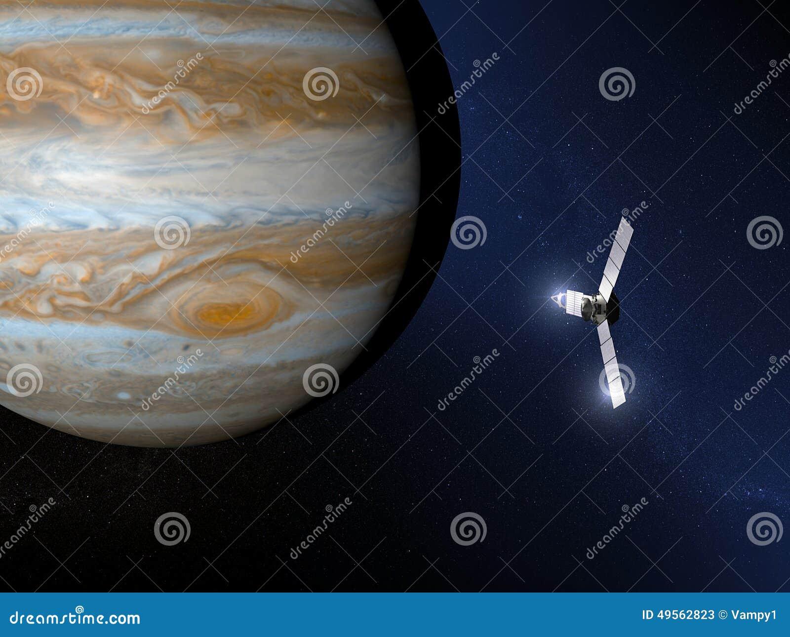 Jupiter And Juno Space Probe Stock Illustration - Image ...
