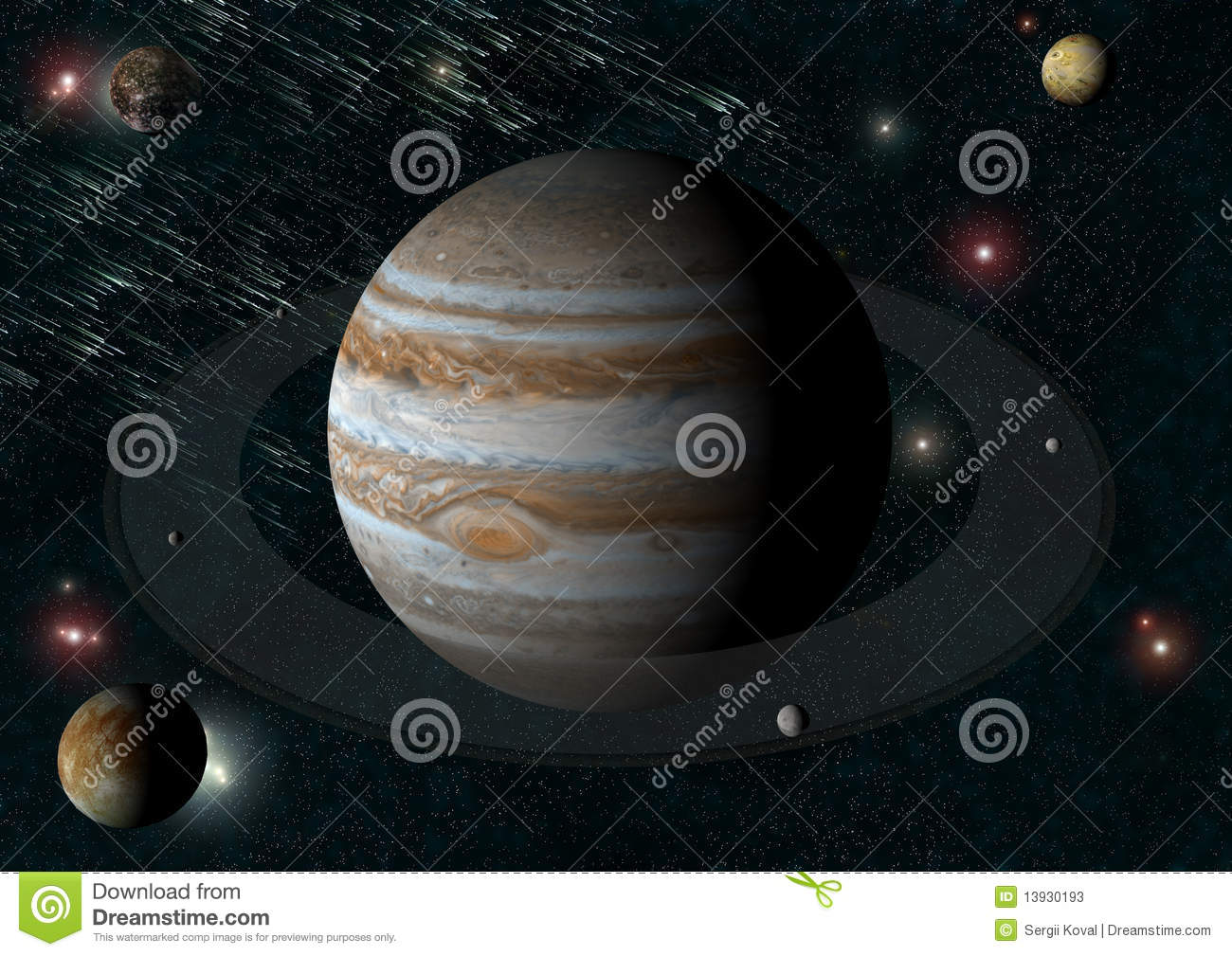 Jupiter And It S Moons Stock Photos Image 13930193