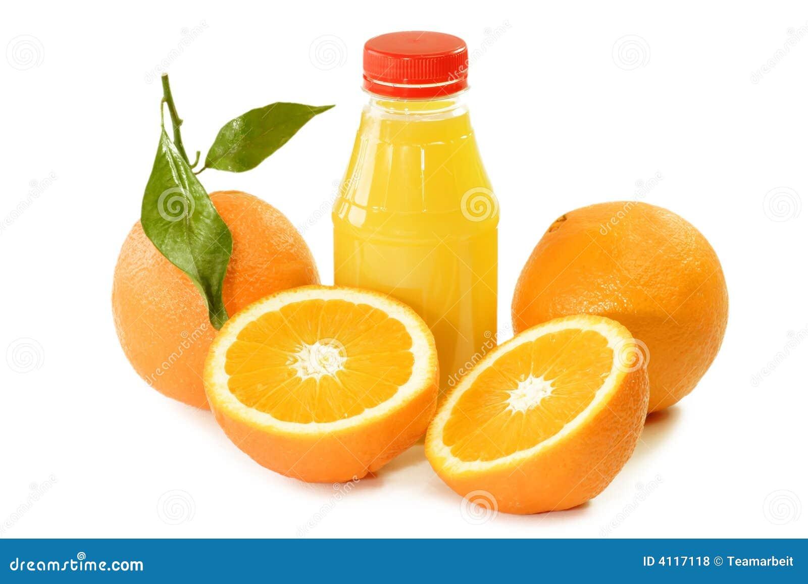 jus d 39 orange dans une bouteille photo stock image du nutrition orange 4117118. Black Bedroom Furniture Sets. Home Design Ideas