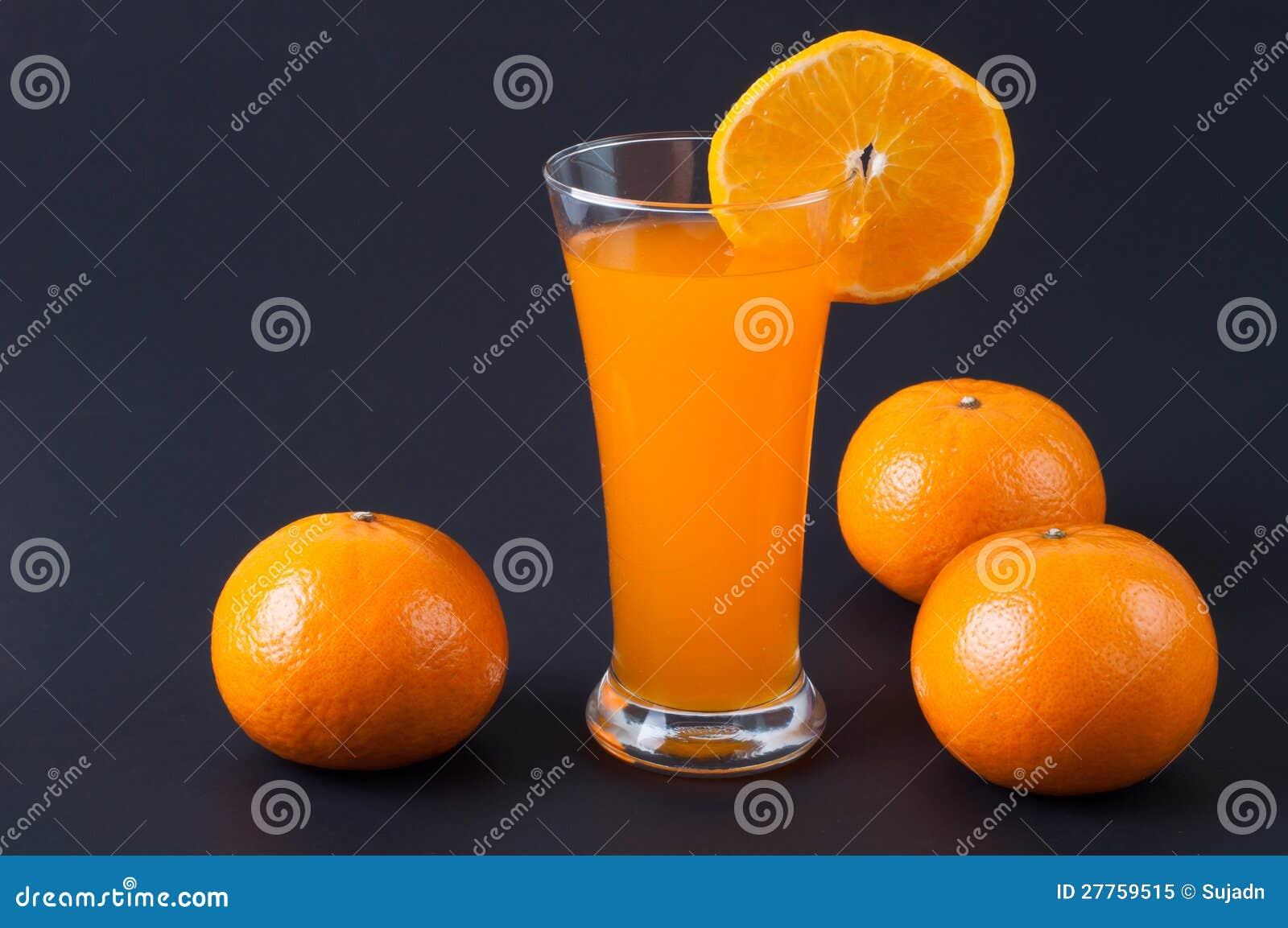 Jus d orange et parts d orange