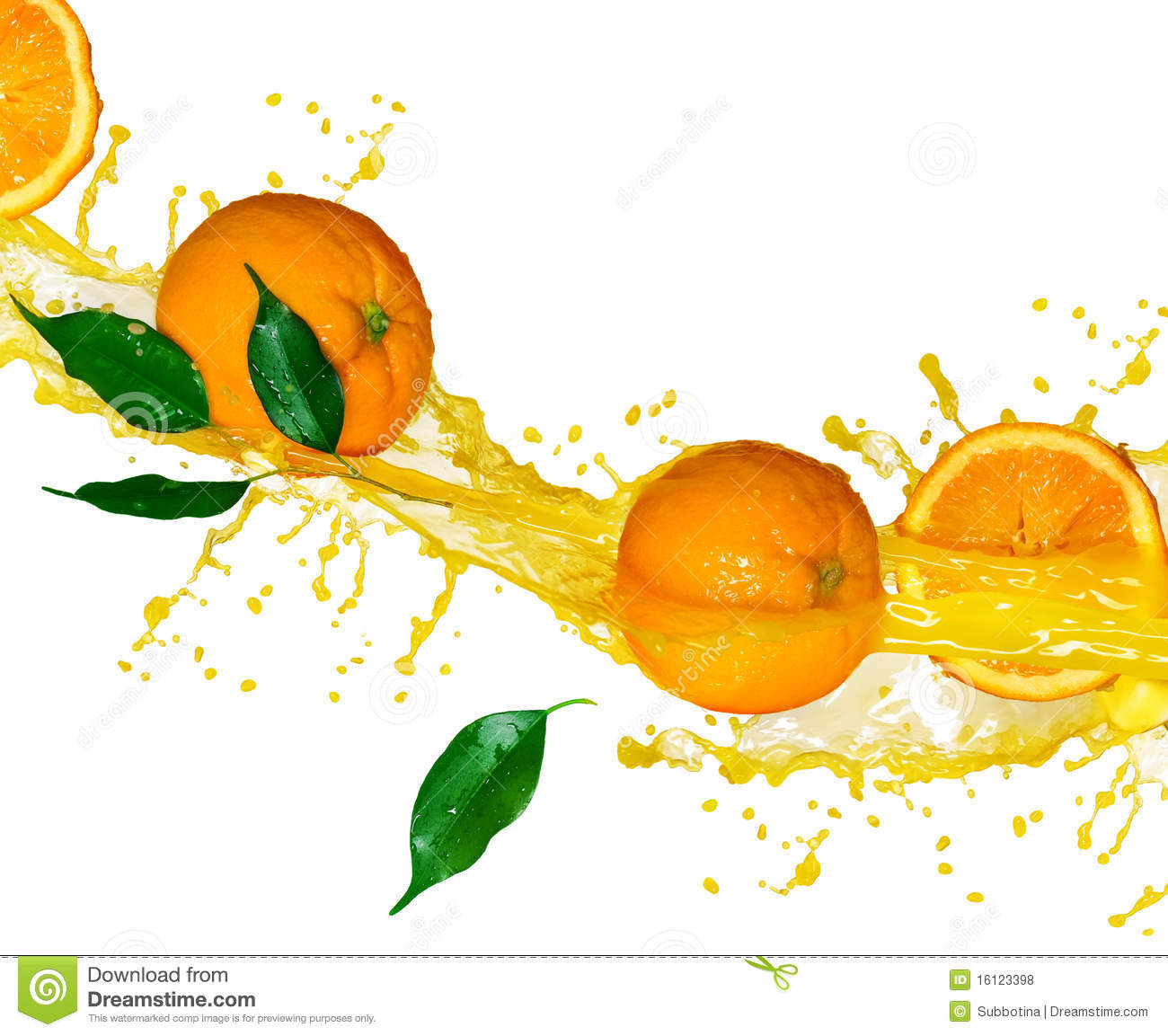 Jus d orange splashng
