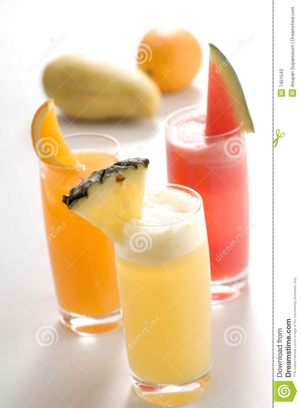 Jus de fruit tropical