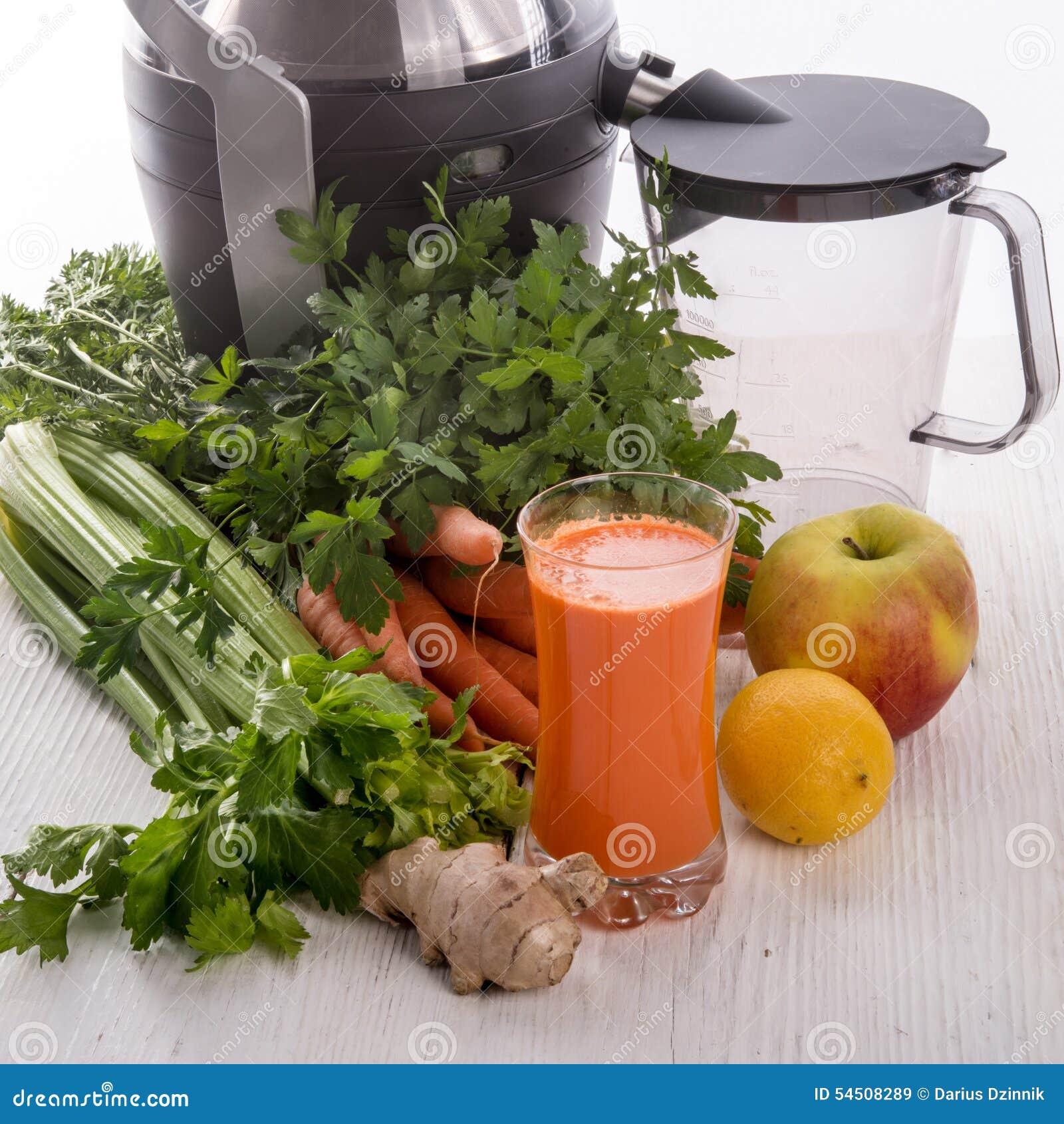 Jus de légumes fraîchement serrés