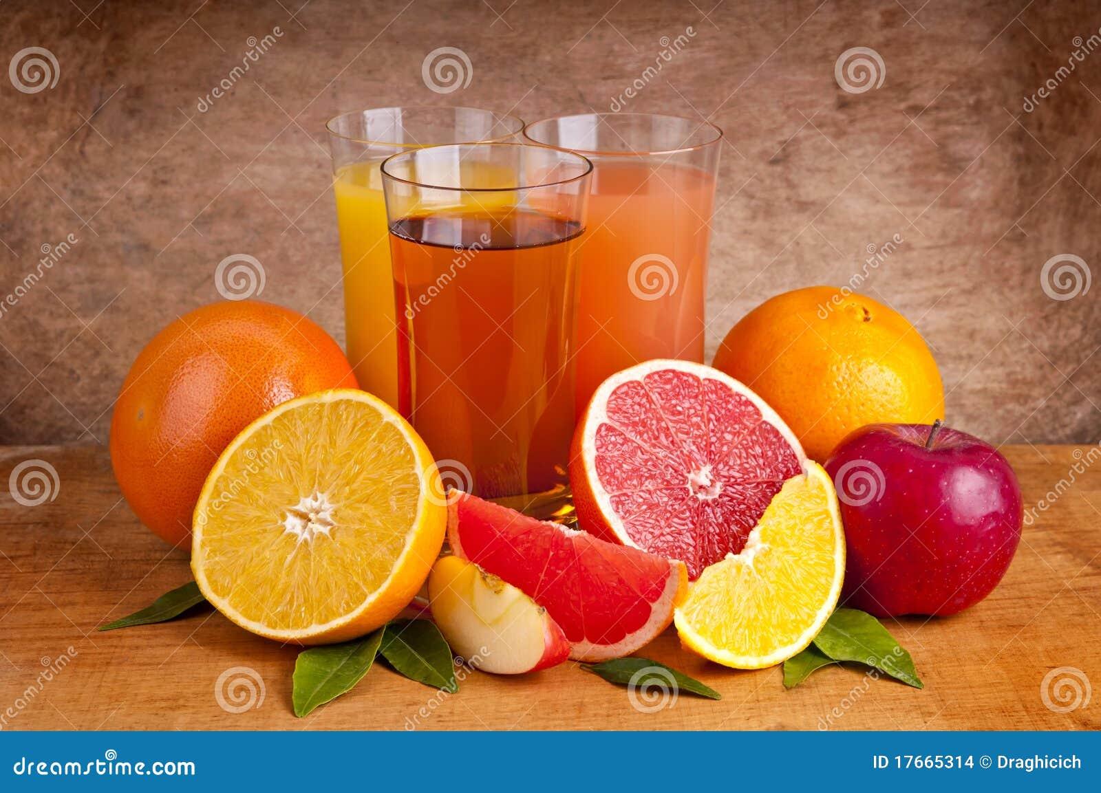 Jus et fruits frais images stock image 17665314 - Conservation jus de fruit frais ...