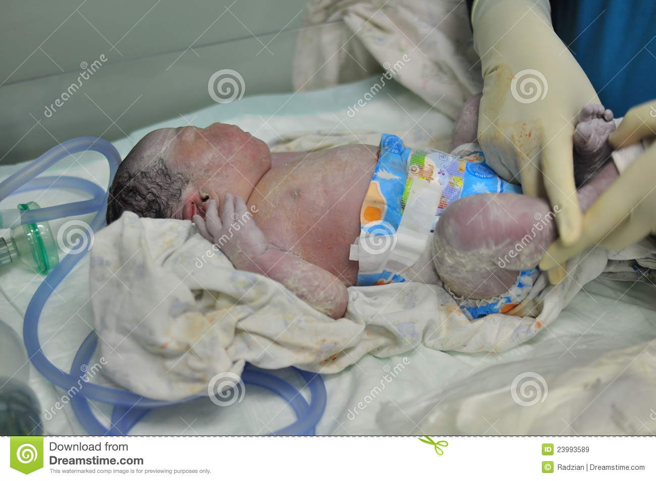 Just Born Baby Royalty Free Stock Images - Image: 23993589