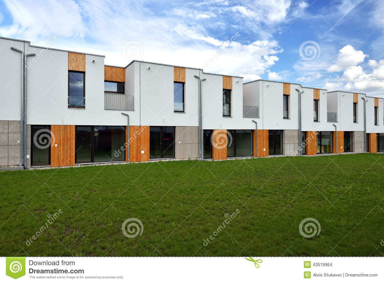Just built modern family row houses stock photo image - Architettura case moderne idee ...