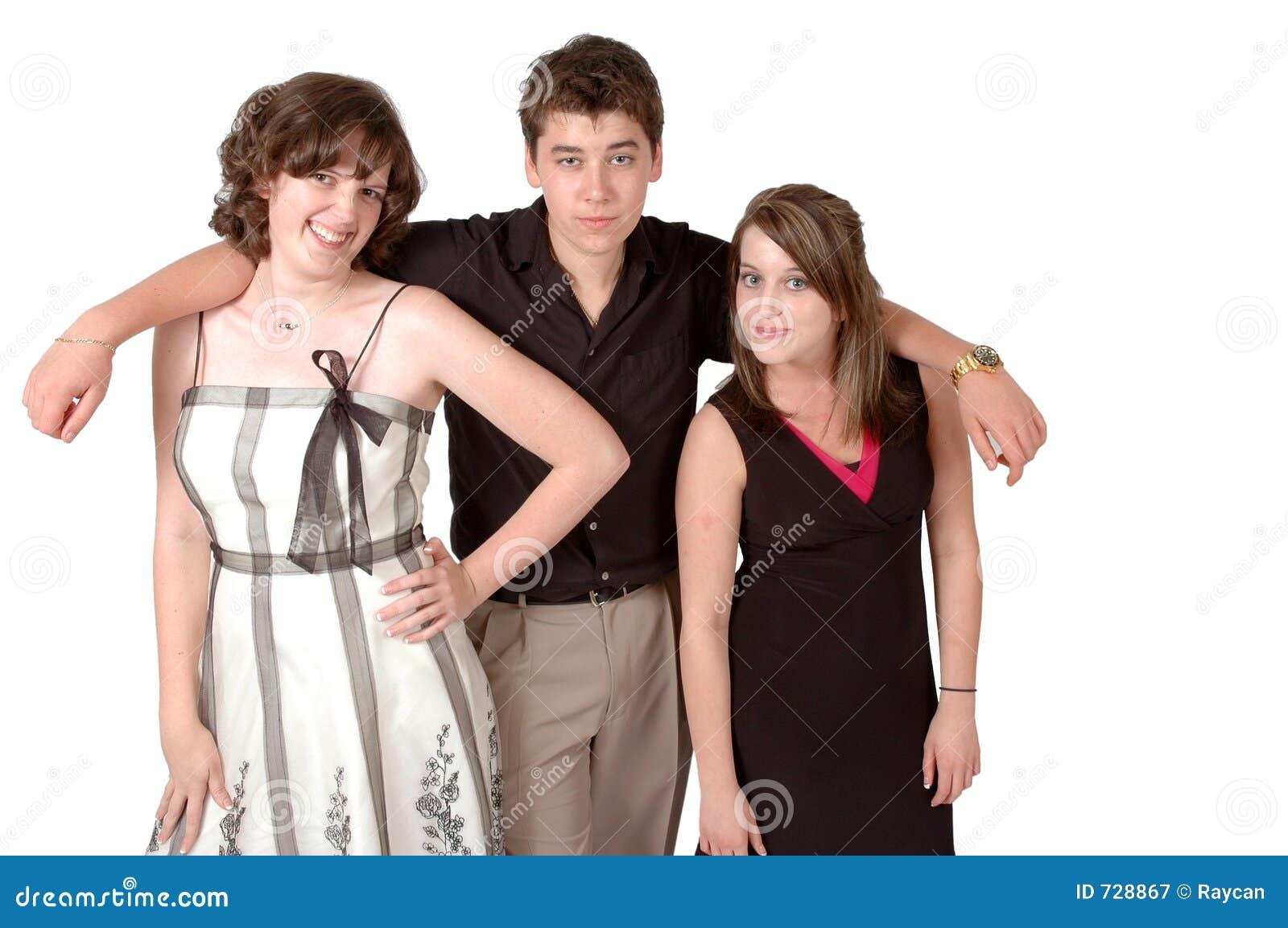 Teen girls one guy