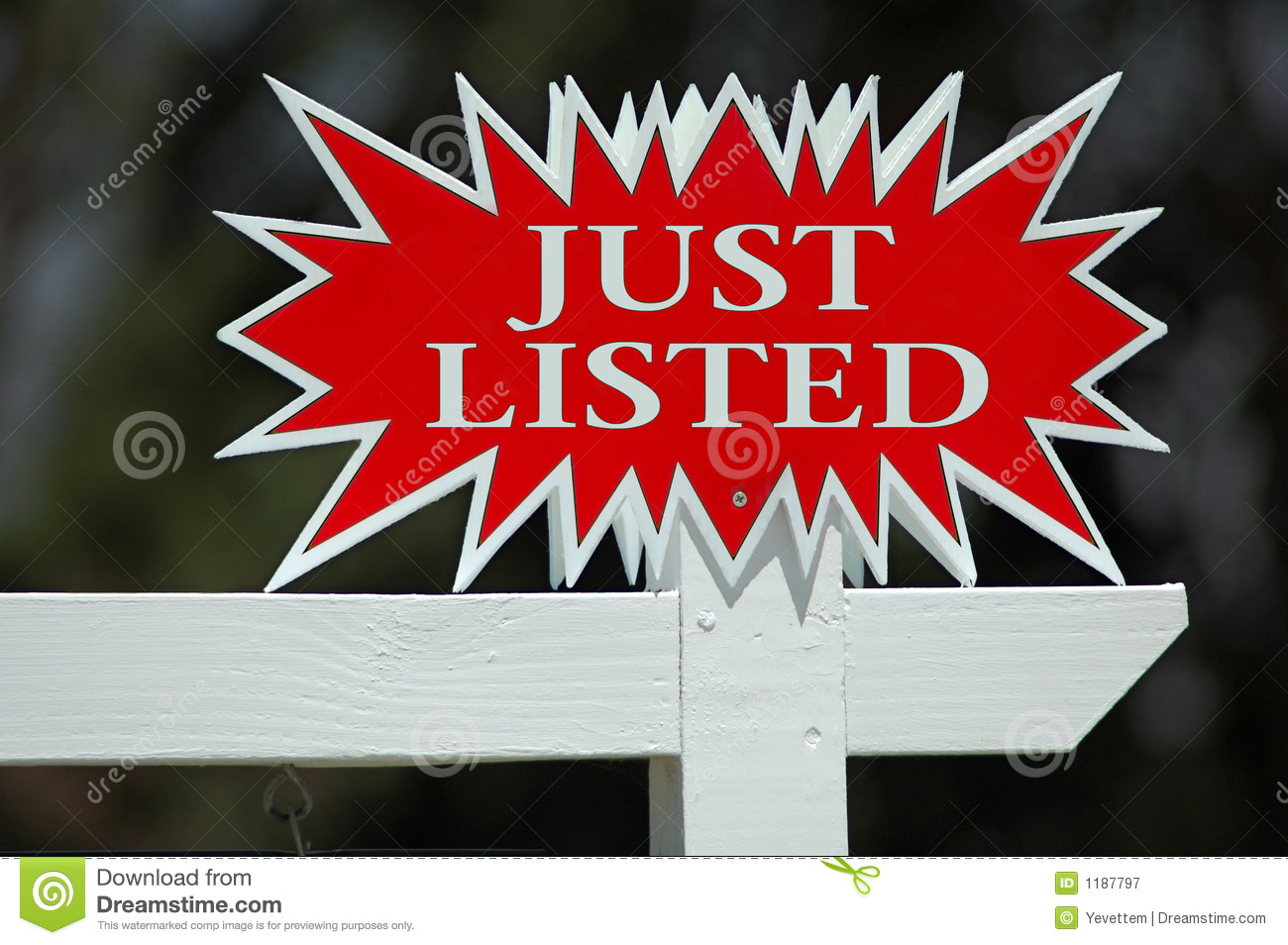 Just Listed Real Estate Sign
