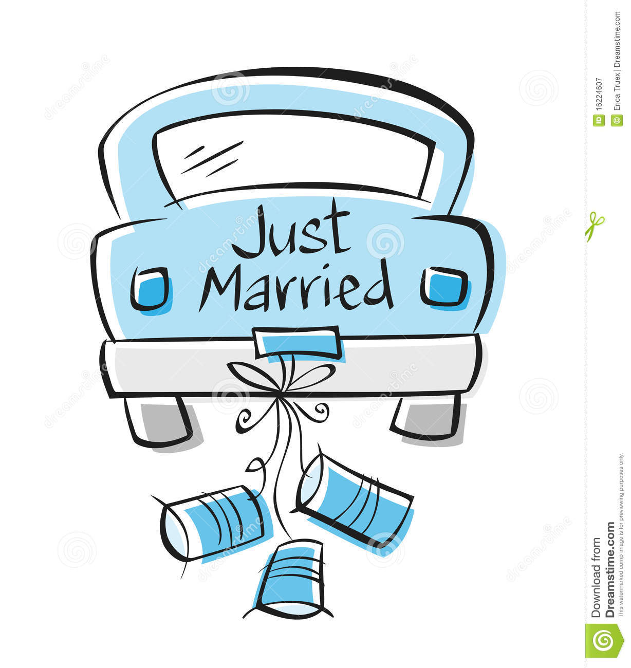 Just Married Royalty Free Stock Photography - Image: 16224607