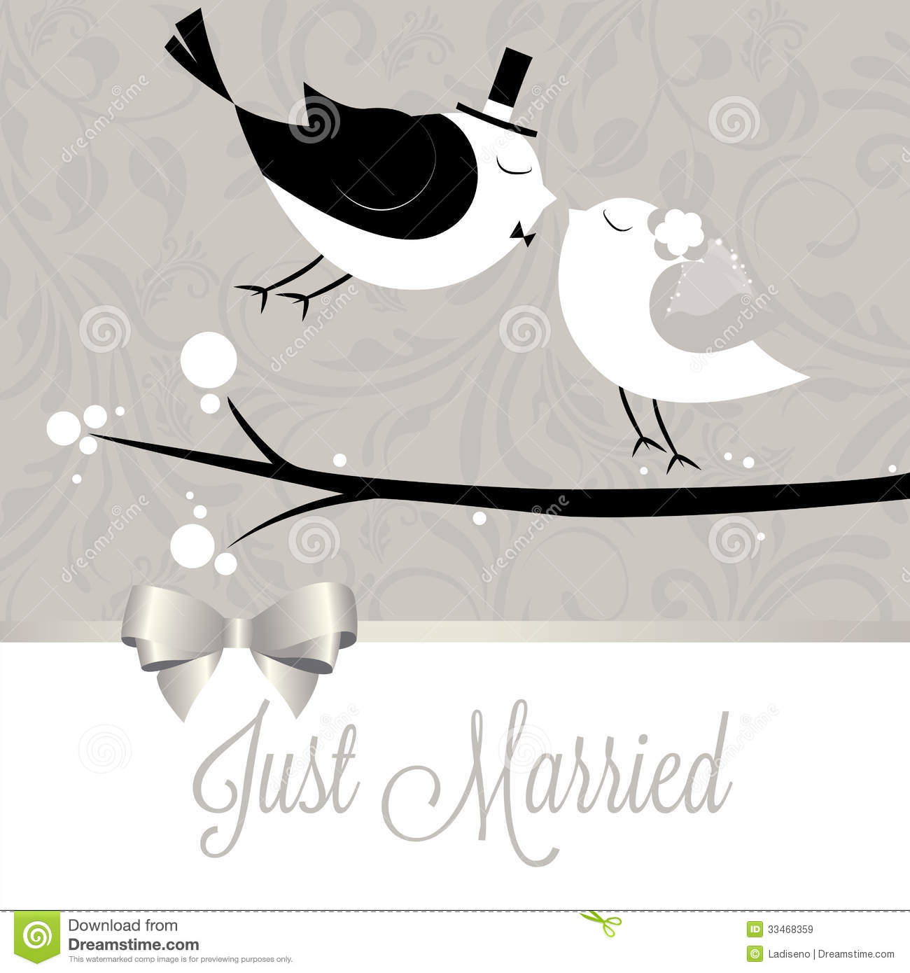 Just Married Royalty Free Stock Images - Image: 33468359