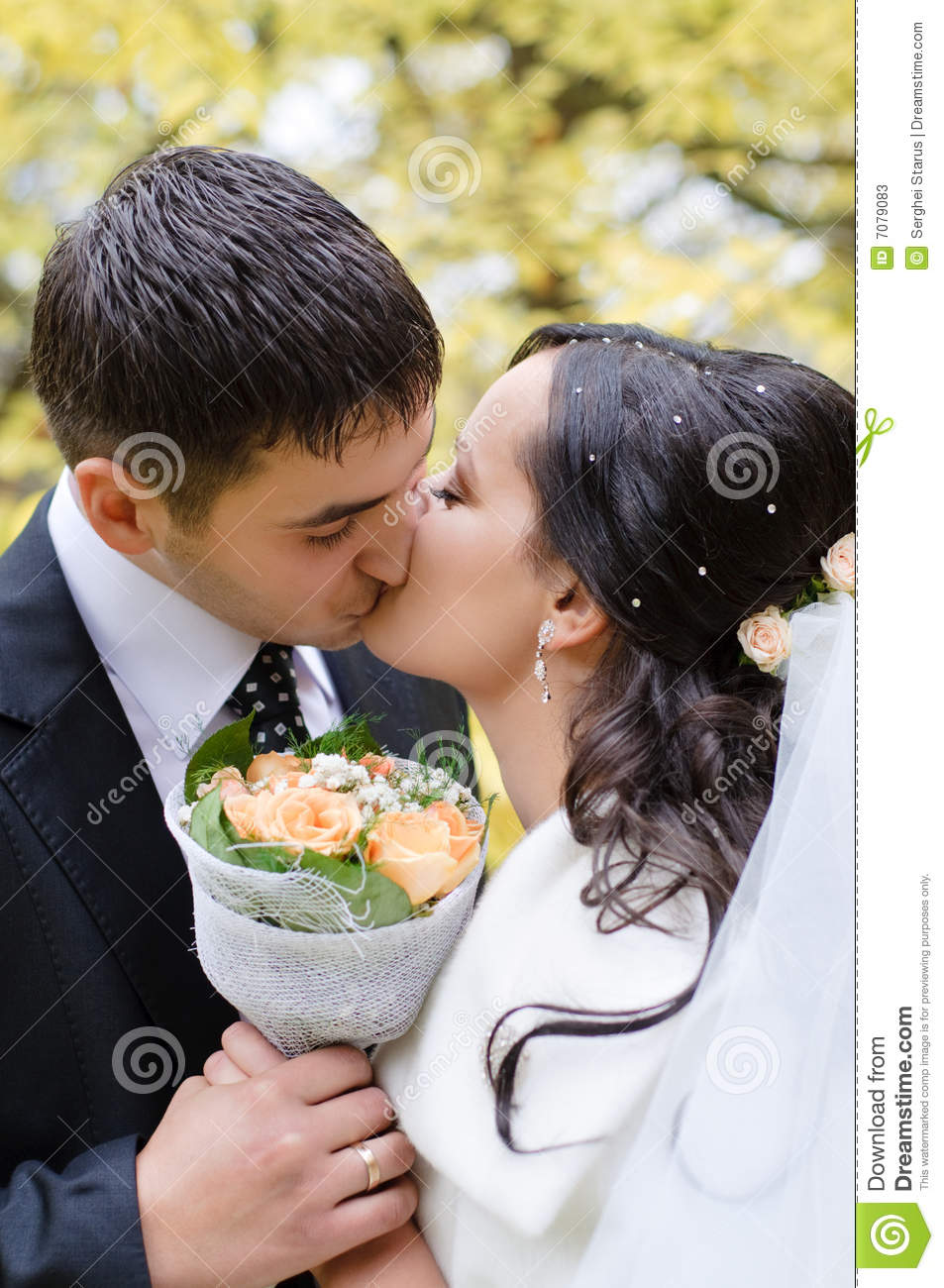 Just Married Couple Stock Photos Image 7079083