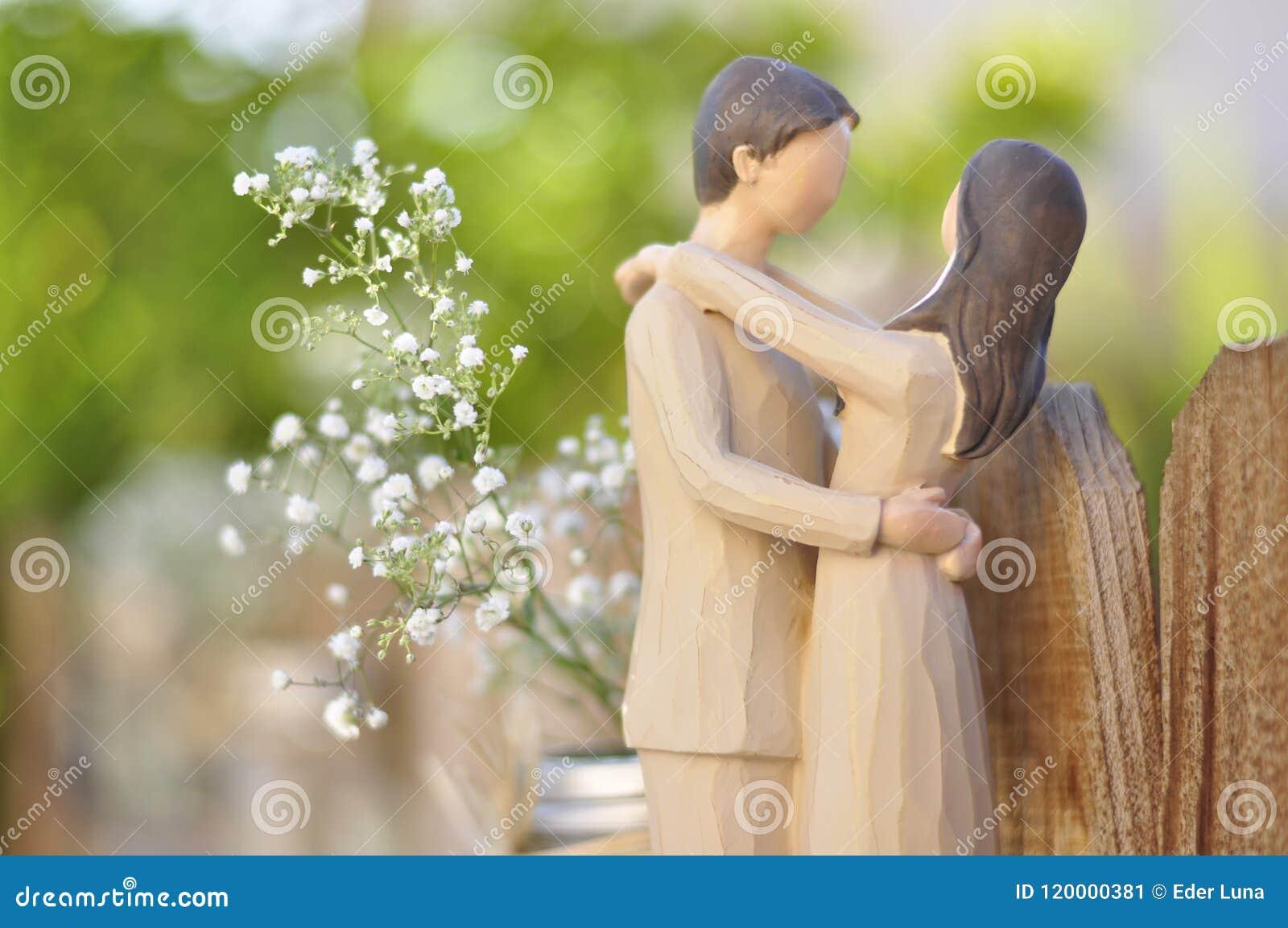 Just Married Couple Figurine Stock Image Image Of Figurines