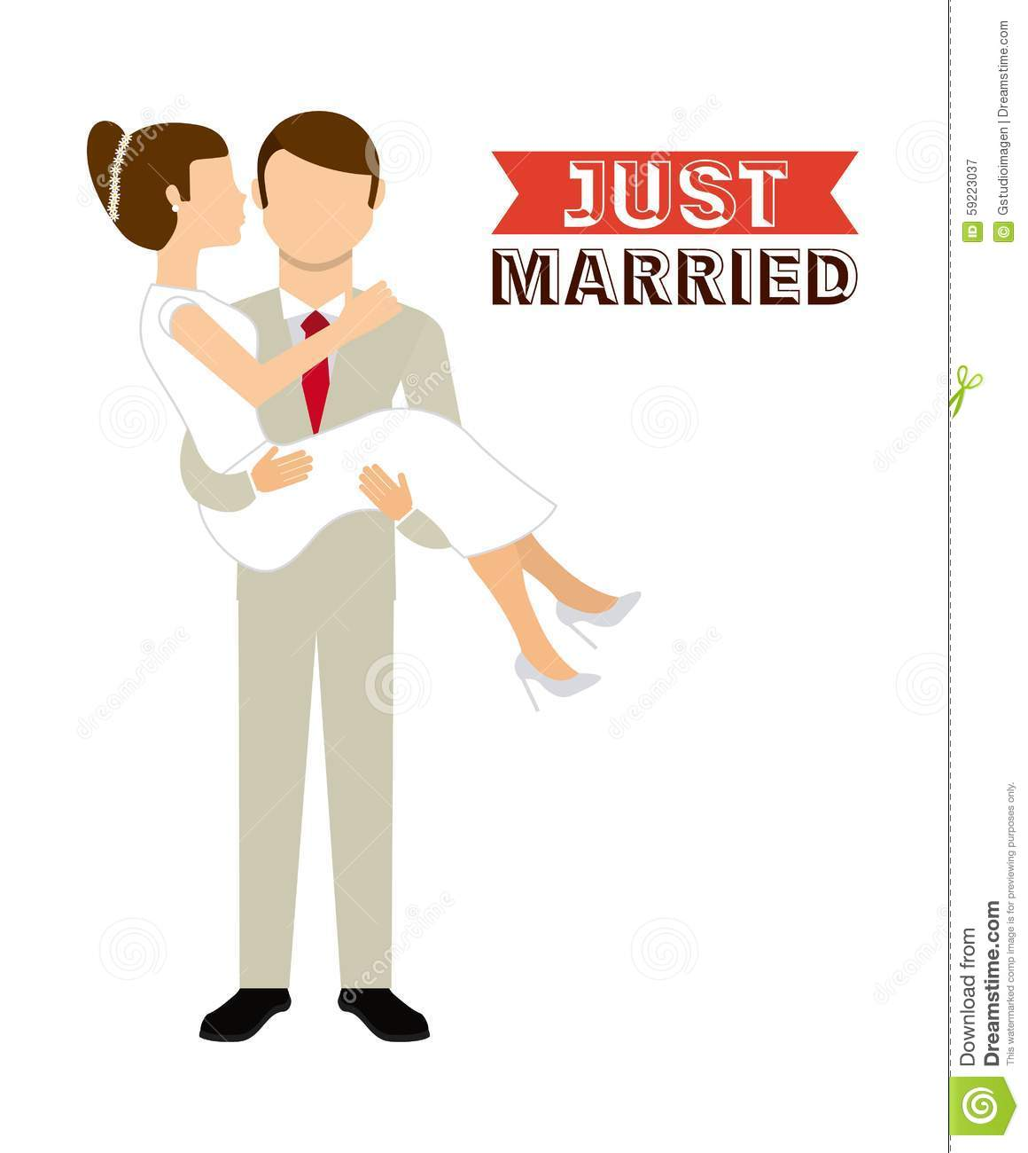 Just married stock vector image 59223037 Married to design