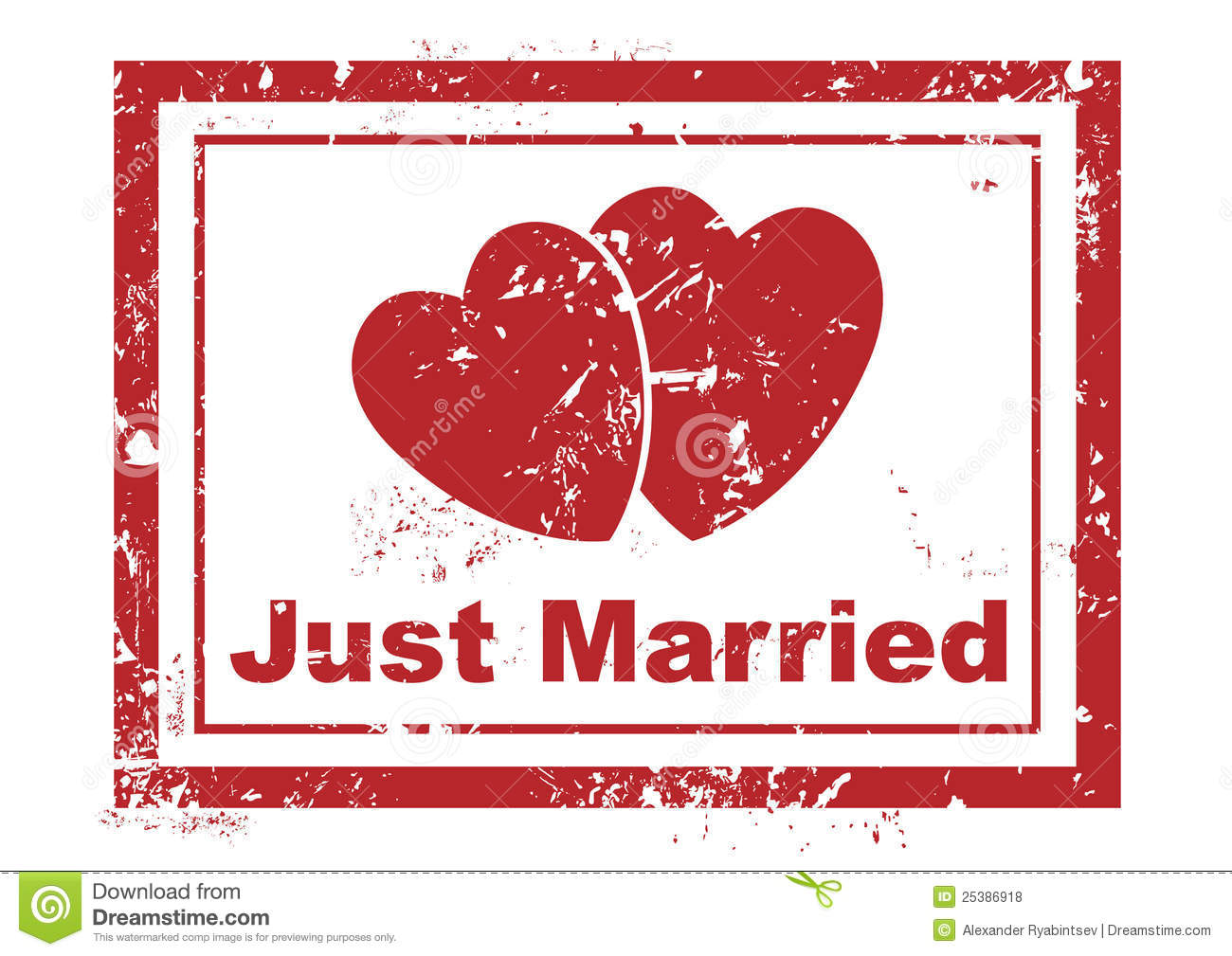 Just Married Stamp Royalty Free Stock Photos Image 25386918