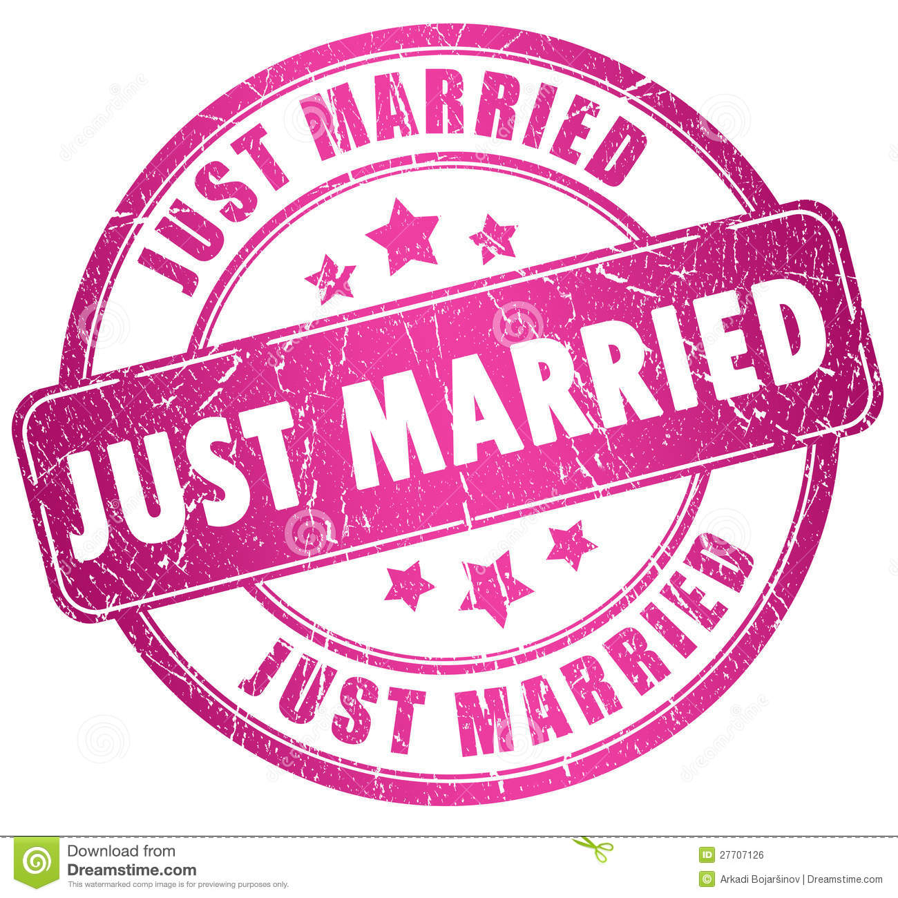 Just Married Clipart Just married stamp isolated on