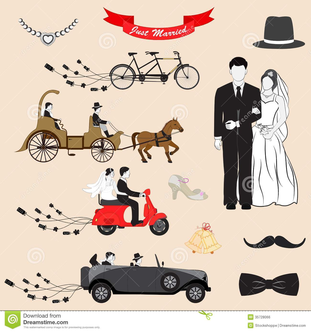 Just married royalty free stock image image 35728066 Married to design