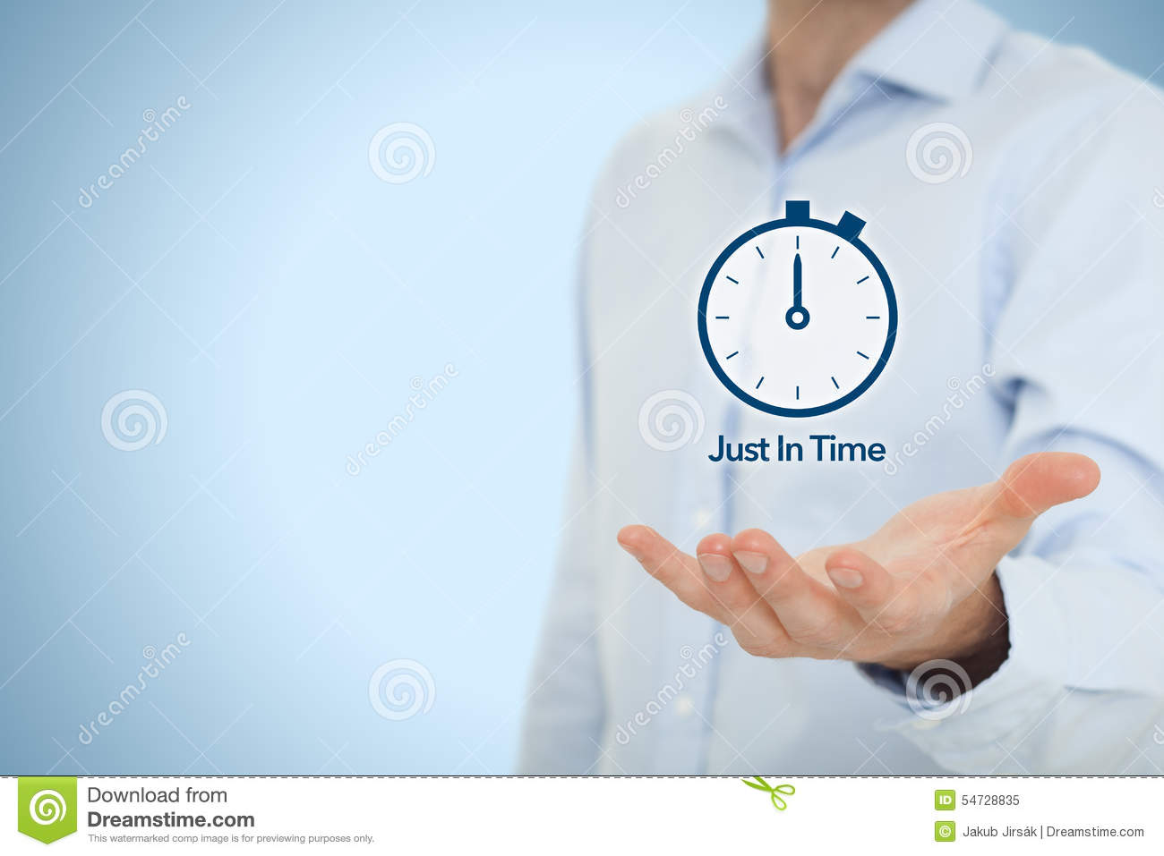 Just In Time JIT Stock Photo Image 54728835