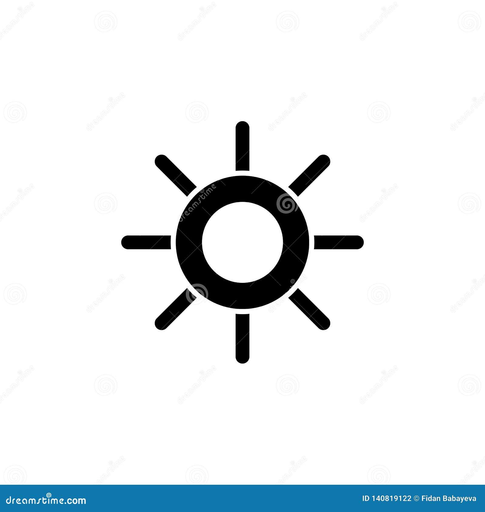 Justera kontrastsymbolen Tecknet och symboler kan användas för rengöringsduken, logoen, den mobila appen, UI, UX