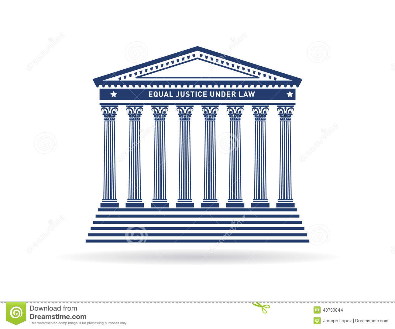Justice Court Building Image Logo Stock Vector - Image: 40730844