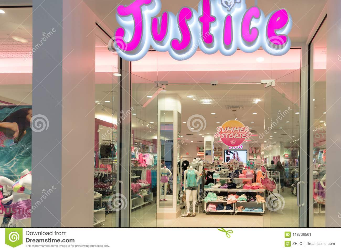 3489b5bfec0a Justice Girls Clothing Store Front Editorial Photo - Image of retail ...