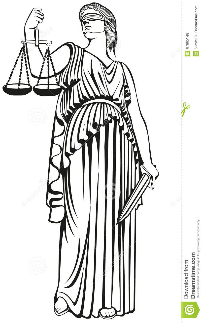Lady Justice Greek Goddess Themis Equality Fair Trial