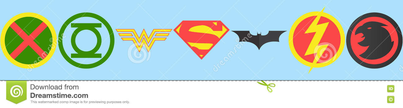 Justice League Symbols Editorial Stock Photo Illustration Of Girl