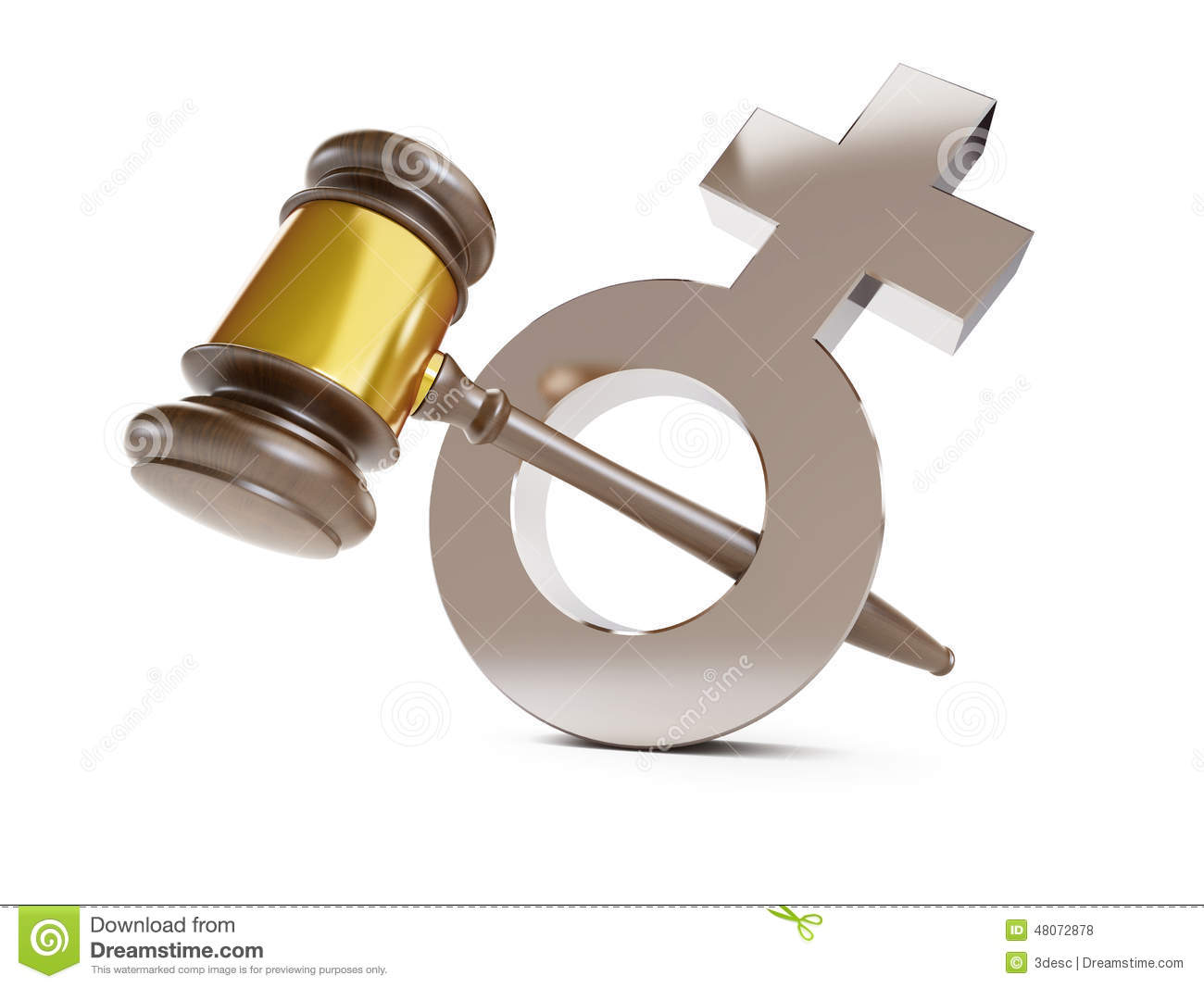 justice over woman stock illustration