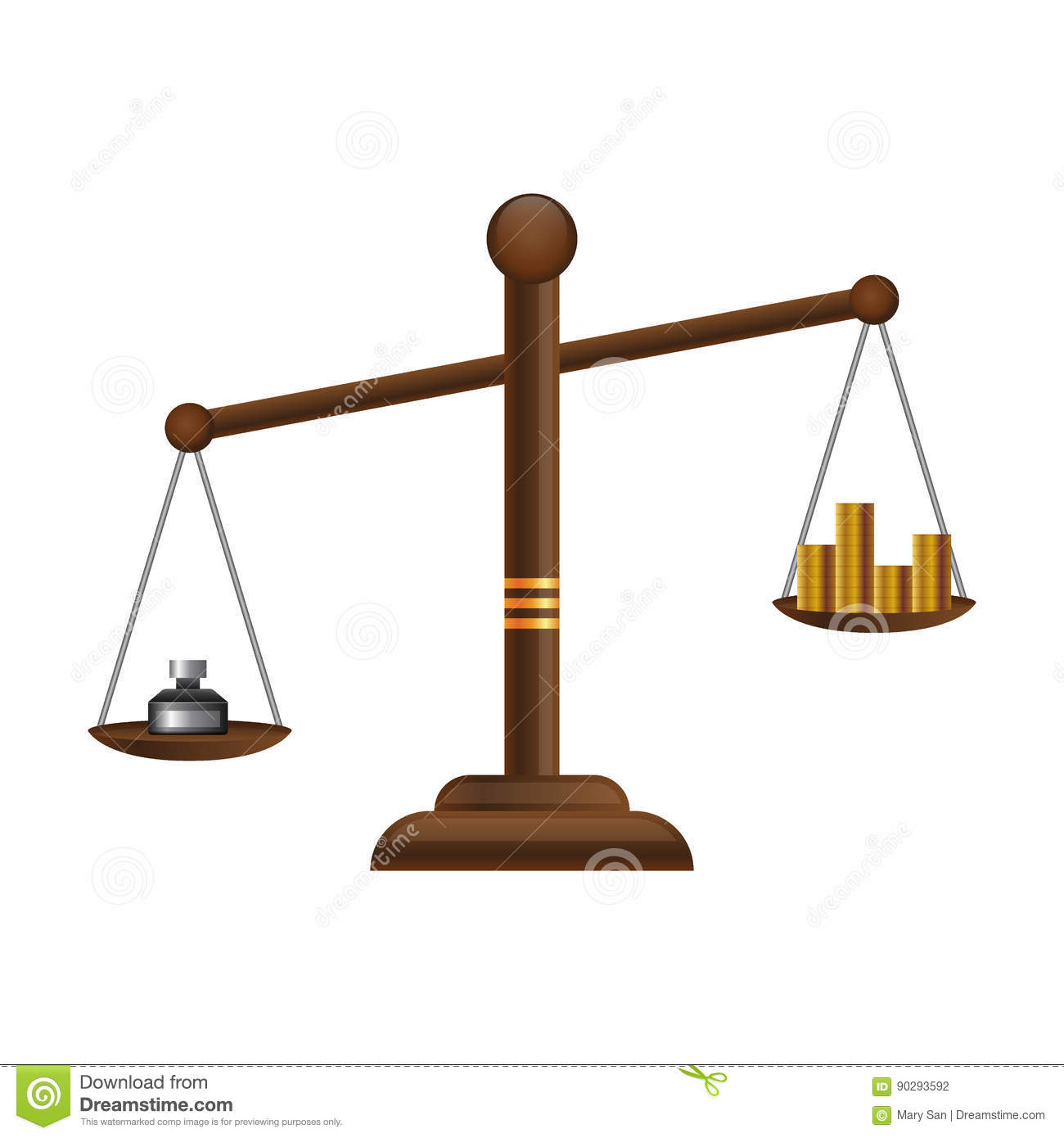 justice scales icon law balance symbol libra flat design with gold rh dreamstime com