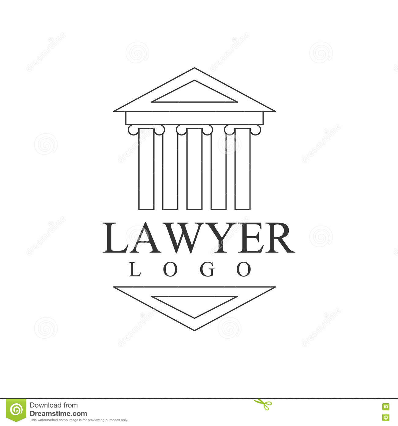 Justicia Blanca Symbol Silhouette Del Edificio De Office Black And