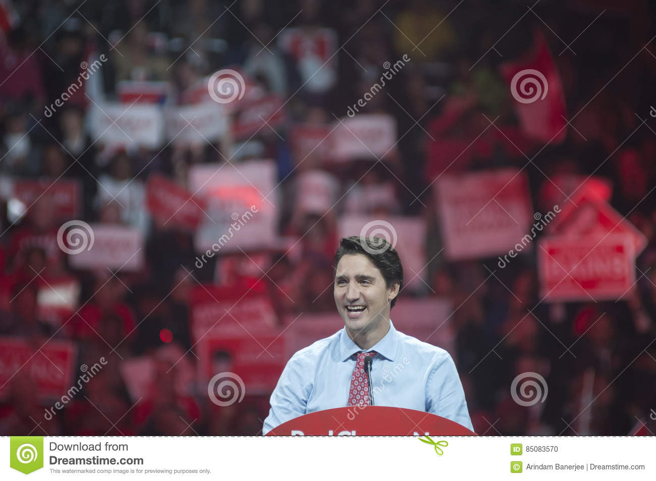 Justin Trudeau election rally