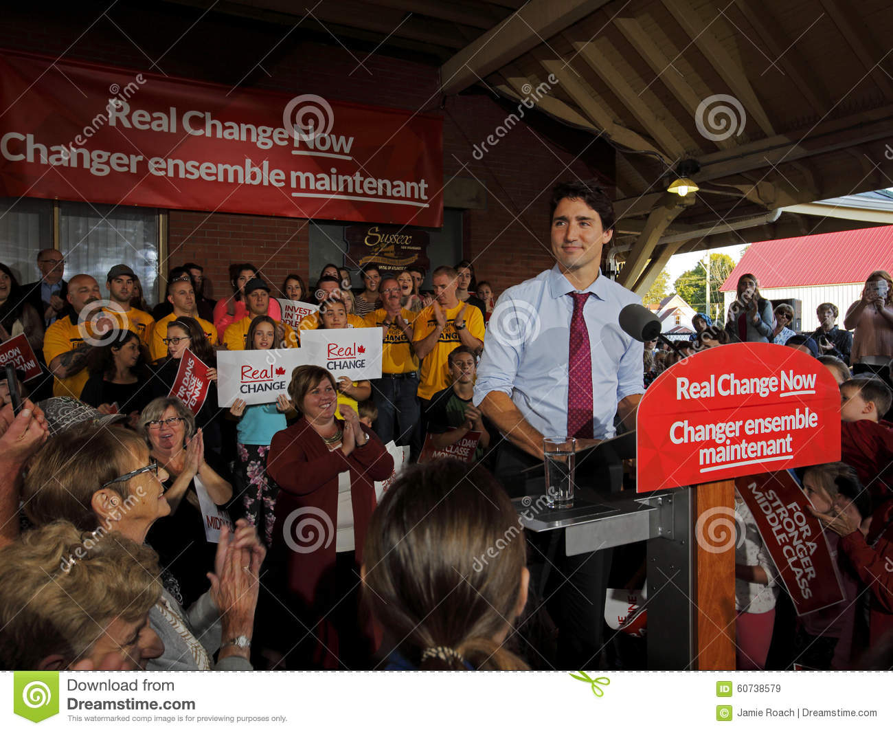 Justin Trudeau Liberal Speech Election le Sussex