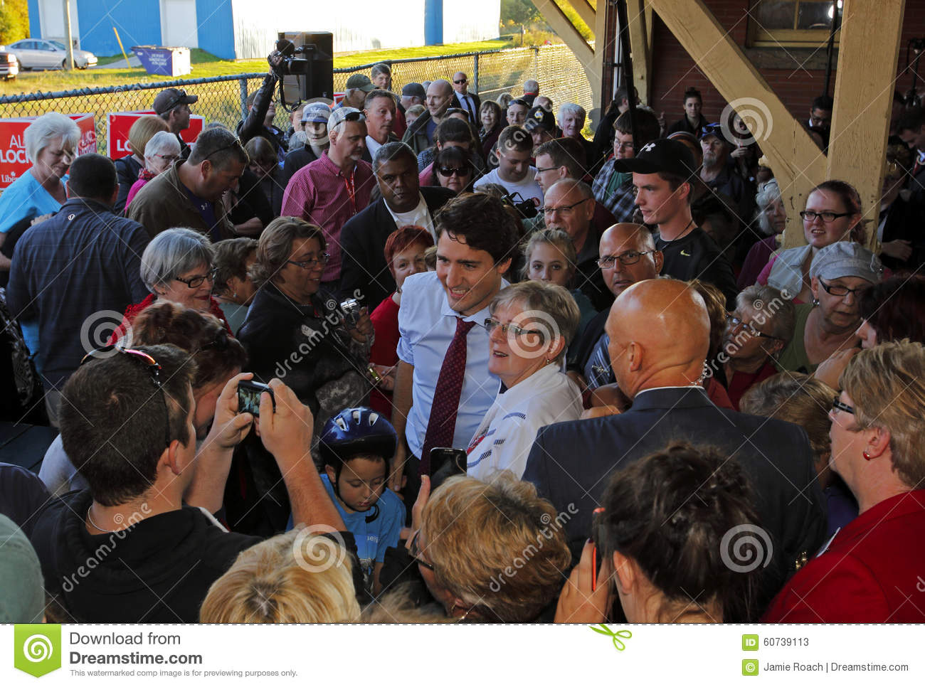 Justin Trudeau Sussex Crowd Election