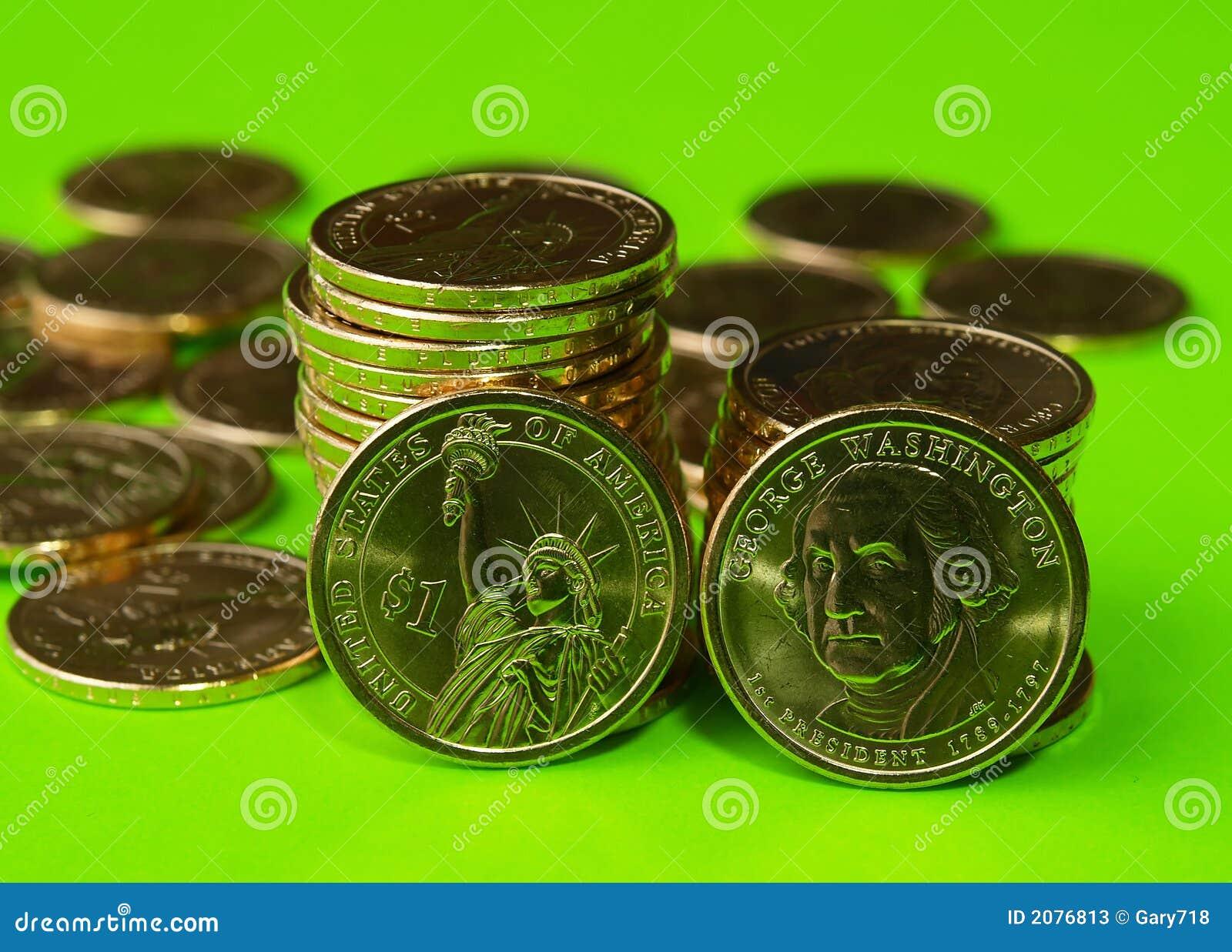 Justo do governo dos E.U. emitido o dólar presidencial novo inventa